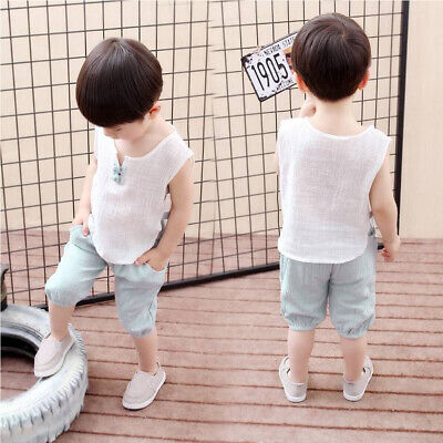 Toddler Kid Baby Boy Clothes Boys Outfits Sets Short T-Shirt + Shorts Pants Tops