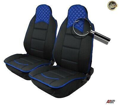Blue Black Luxury Leatherette & Fabric Car Seat Covers For Vw Golf Polo Passat