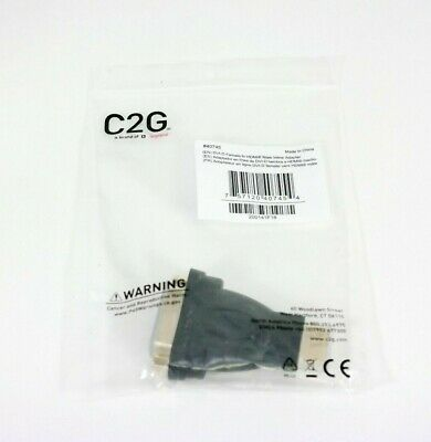 C2G 40745 Velocity DVI-D Female to HDMI Male Inline Adapter NEW