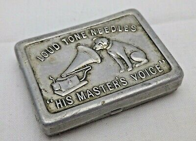 Vintage Genuine Vesta Case or Match Safe Combined His Masters Voice Needle Tin