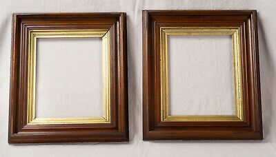 PAIR of Antique Victorian Aesthetic Movement Walnut Picture Frames 8 x 10
