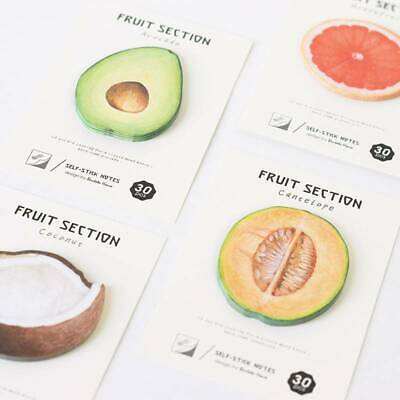 Fruit Memo Pad Sticky Notes Notepad Bookmark Office School Supply Paper Sticker