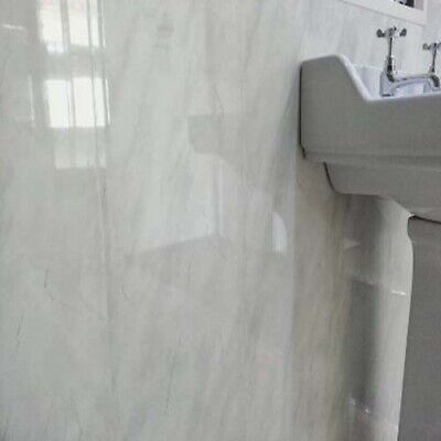 Light grey marble 5mm  Bathroom PVC Cladding Plastic Shower Wall Panels wet wall