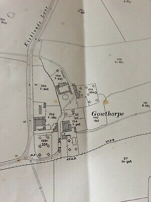 1927 Ordnance Survey Map Plan GOWTHORPE Nr Fangfoss Pocklington History FRAME It
