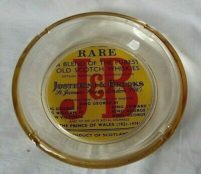 Superbe Cendrier Verre Jb Scotch Whiskies Whisky Gros Modele Bistrot Collector