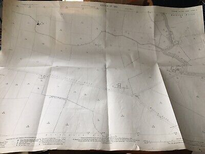 1910 Ordnance Survey Map Plan Nafferton Drain Nr Hutton Cranswick Driffield