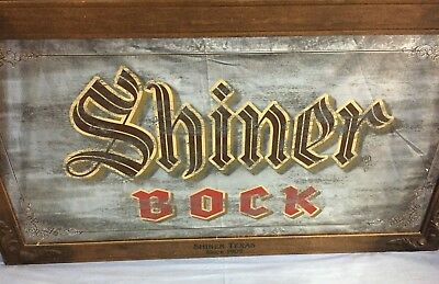 Shiner Bock Texas Beer 53 X 29 Pub Bar Man Cave Big Mirror Sign