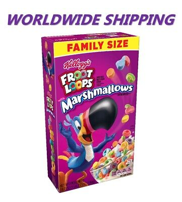 Kellogg's Froot Loops w/ Marshmallows Breakfast Cereal 18.7 Oz WORLD SHIPPING