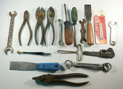 Junk Drawer Tool Lot Misc Pieces Used Pliers, Screwdrivers, Wrenches