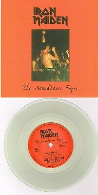 """Iron Maiden - The Soundhouse Tapes (Rok1) Ltd Clear Vinyl 2019 7"""" Single"""