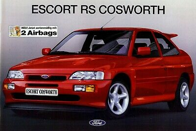 "FORD Escort ""RS Cosworth"" - 220 HP - 1994 - German sales catalogue, prospekte"