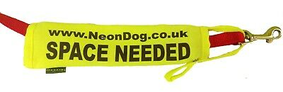 Official Neon Yellow Dog Space Needed Lead slip 4 dogs space nervous anxious