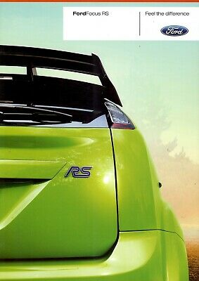 """FORD Focus """"RS"""" - 2.5 - 305 HP - 2009 - German sales catalogue, prospekte"""
