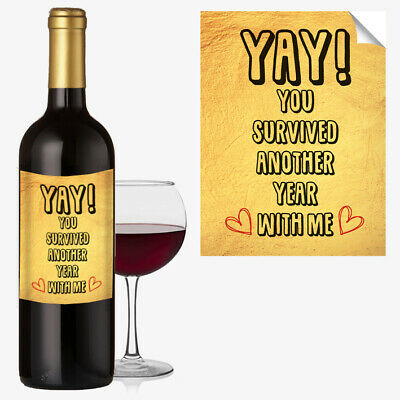 ANNIVERSARY WINE BOTTLE LABEL OCCASION GIFT Funny Cool Best Idea Him / Her #1038