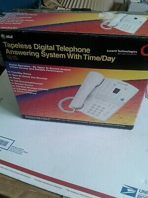 Genuine AT&T White Corded Tapeless Digital Telephone Answering System (1815)