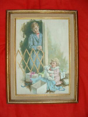 Vintage illustration art painting - Ned's Legacy used in magazine or book
