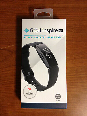 Fitbit Inspire HR Fitness Tracker Black, Small & Large Bands Included