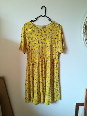 ASOS Maternity Dress - Yellow Floral - Size 16