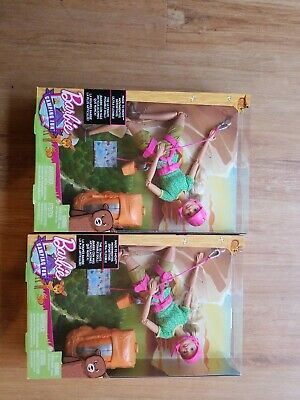 NEW Barbie Made To Move Ultra Flexible Posable Rock Climbing Doll (Lot of 2)