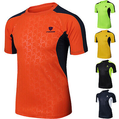 Men's Sports Running Workout T-Shirt Quick Dry Gym Fitness Short Sleeve Tops Tee