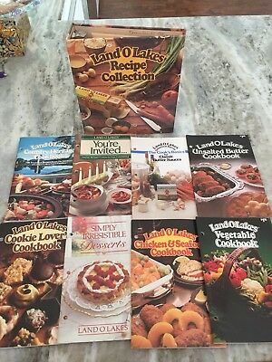 Land O Lakes Recipe Collection Cookbook Binder Color Hardover w/Paperback Books