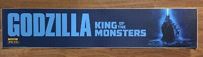 💥 GODZILLA 2: KING OF THE MONSTERS -  Movie Theater Poster / Mylar - LARGE 5x25