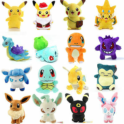 Pokemon Soft Plush Toy Pikachu Eevee Squirtle Stuffed Teddy Doll Gift Collection