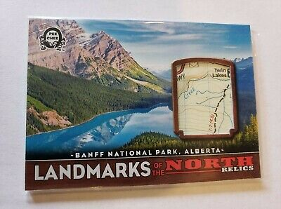 2018-19 Opc Coast To Coast Landmark Relics Of The North Banff National Park Map