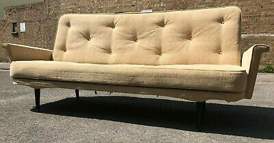 Sofa Bed Day Bed Mid-Century  Studio Couch Vintage Retro
