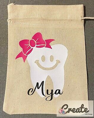 Tooth Fairy Bag Pouch Boy Girl Bottle Name