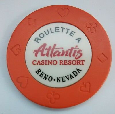 Atlantis Casino Reno, Nevada Table A Roulette Chip Great For Any Collection!