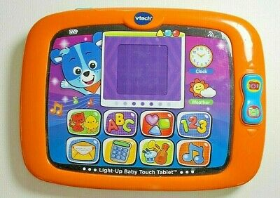 VTech Light-Up Baby Touch Tablet (Orange) Educational Electronic Learning Toy