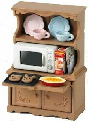 Sylvanian Families KA-413 Cupboard and Microwave Oven EPOCH from Japan 190512