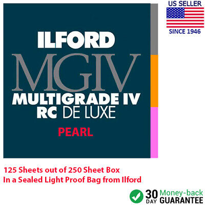"Ilford Multigrade IV RC DeLuxe Paper (Pearl, 8.5 x 11"", 125 Sheets) SEALED"