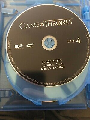 Game of Thrones HBO (DVD) Sixth Season 6 Disc 4 Replacement Disc U.S. Issue!