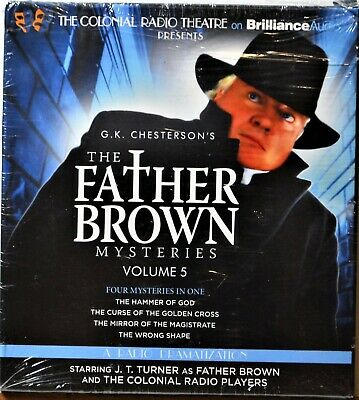 Audiobook 2-CD Father Brown Mysteries Volume 5 Suspense Mystery Extras Ship Free