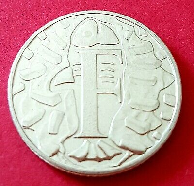 Rare 2018 Alphabet Letter F Fish & Chips 10 Pence Coin See My Others Authentic