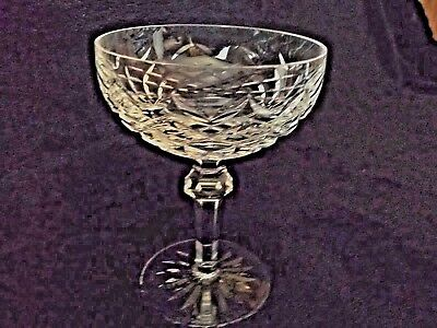 Waterford  Powerscourt  Cut Crystal Footed Dessert Champagne Tall Sherbet Glass