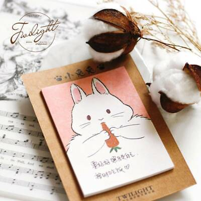 Animal Memo Pad Sticky Notes Notepad Bookmark Office School Supply Paper Sticker
