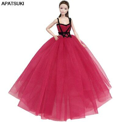 Red Black High Fashion Doll Clothes for 11.5in Doll Dress Evening Party Gown