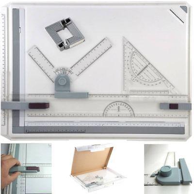 A3 Drawing Board Table With Parallel Motion & Adjustable Angle Office Lot sy