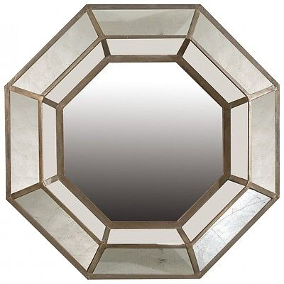 New  Wall Mirror In Antique Gold Frame Large Art Deco Wall Mirror Hexagon Mirror
