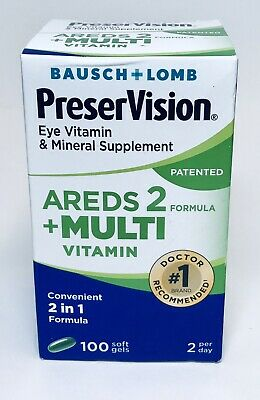 Bausch+Lomb PreserVision Eye Vitamin AREDS 2, 100 Softgels  exp 2020+  8648