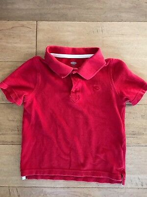 Old Navy Toddler Boys White Pique Polo Shirt Uniform Size 4T