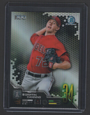 2019 Bowman Chrome Griffin Canning Bowman Scouts' Top 100 Rookie #34 Angels