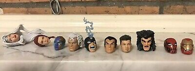 Marvel Legends Head Lot Custom END GAME IRON MAN HAWKEYE Magneto Weapon X More