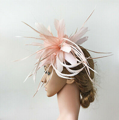Peacock Hackle Goose Biot Twistable Feather Mount Millinery Hat Fascinator Craft