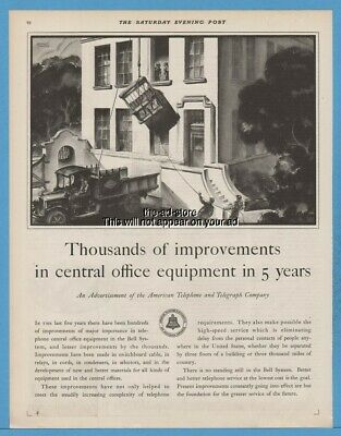 1929 Bell American Telephone Telegraph Co AT&T Central Office Equipment Ad
