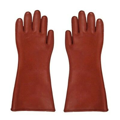 Insulated 12kv High Voltage Electrical Insulating Gloves For Electricians Nu