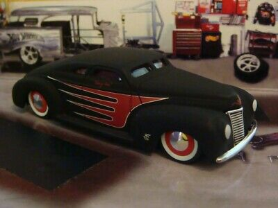 """Matte Black Kustom 1940 40 Ford """"RAT ROD"""" Coupe 1/64 Scale Limited Edition F"""